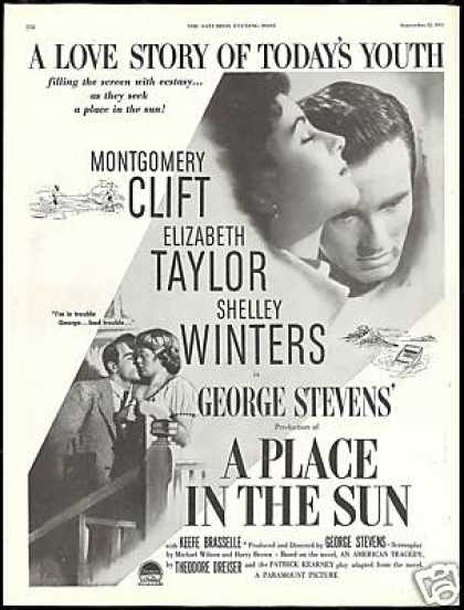 A Place in the Sun Elizabeth Taylor Movie Promo (1951)