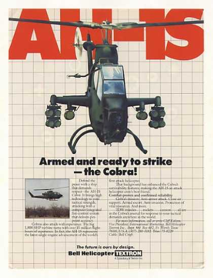 Bell AH-1S Cobra Military Helicopter (1986)