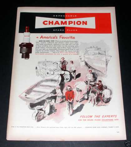 Champion Spark Plugs, Dependable Ex (1949)