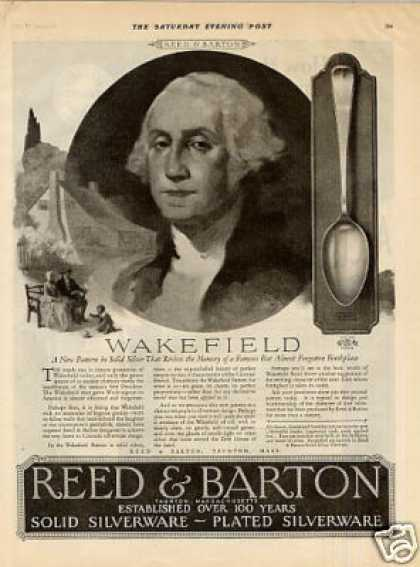 Reed & Barton Silverplate Ad Wakefield Pattern (1926)