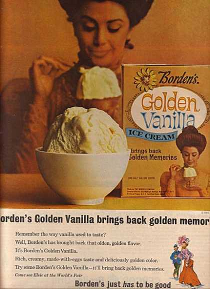 Borden's Golden Vanilla Ice Cream (1964)