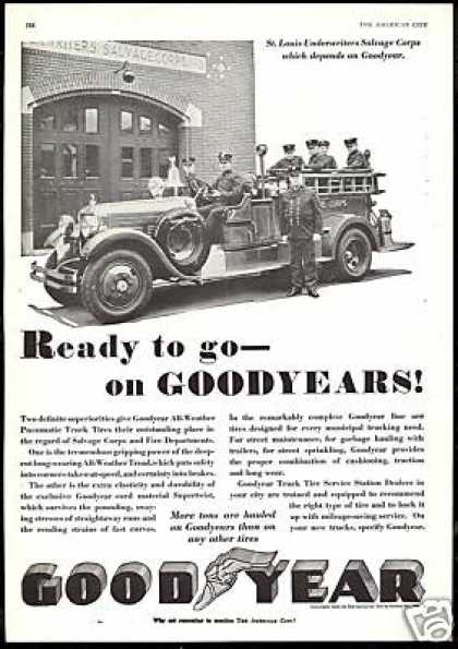 St Louis Underwriters Salvage Goodyear Tire (1930)