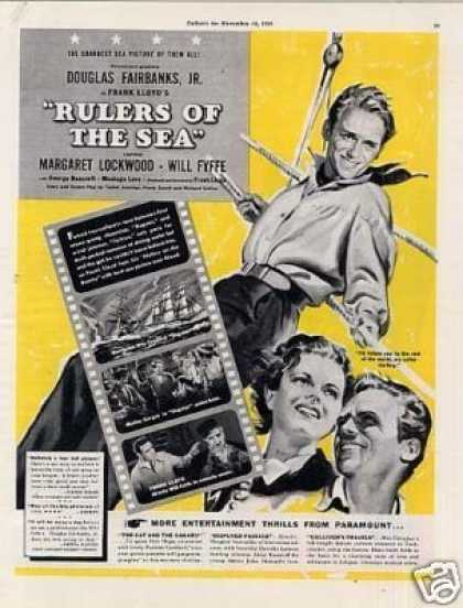 "Movie Ad ""Rulers of the Sea"" Douglas Fairbanks, Jr (1939)"