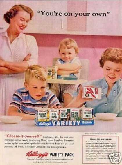 Kellogg's Variety Pack Cereal (1956)