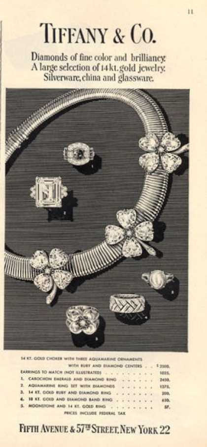 Tiffany Gold Diamond Jewelry (1947)