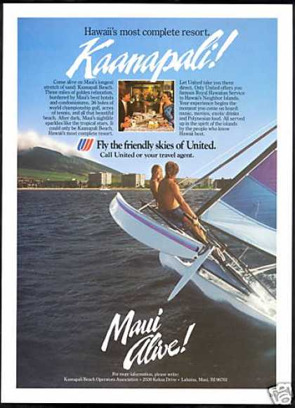 United Airlines Maui Kaanapali Hawaii (1985)