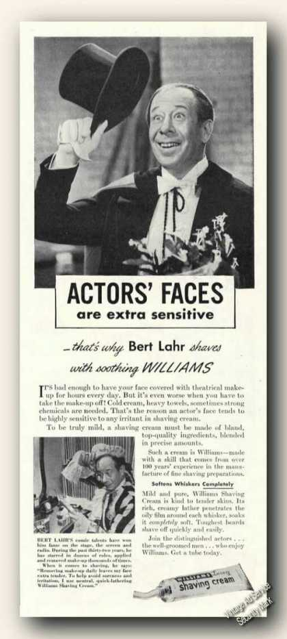 Bert Lahr Photo Williams Shaving Cream (1945)