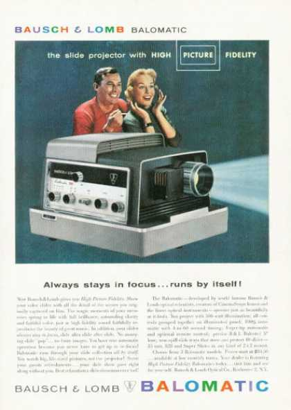 Bausch & Lomb Balomatic Slide Projector (1958)