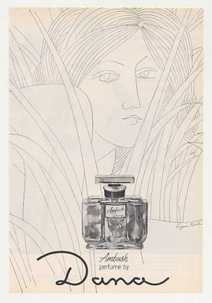 Dana Ambush Perfume Bottle Eugene Karlin art (1965)