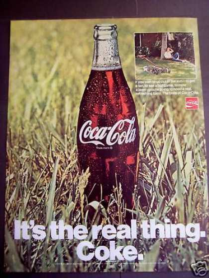 Tired Guy Drinking Coca-cola Coke Soda (1970)