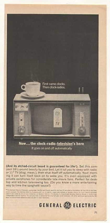 GE General Electric Clock Radio Television TV (1963)