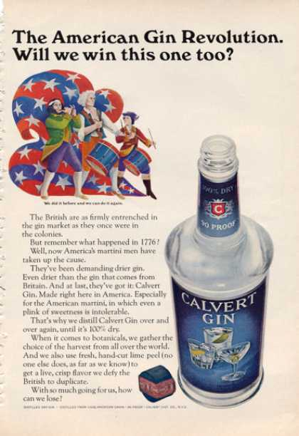 Calvert Gin American Revolution Bottle (1966)