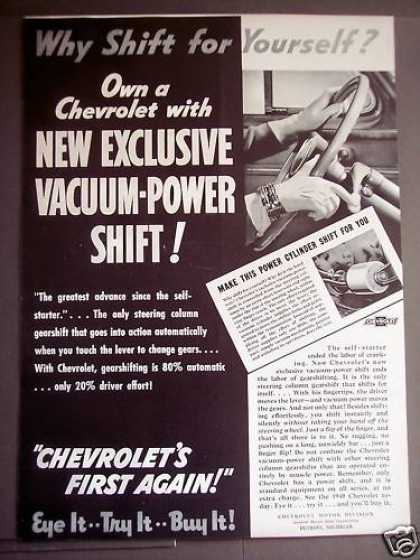 Chevrolet's New Vacuum-power Shift Car (1939)