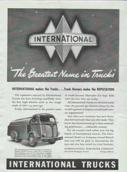International Harvester – Cab Over Engine (1940)
