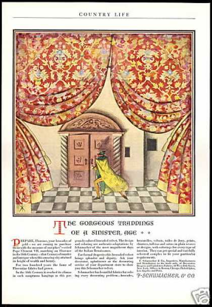 F. Schumacher & Co Drapery Upholstery Fabric (1927)