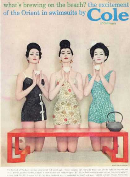Cole Swimsuits Orient Asian Style (1958)