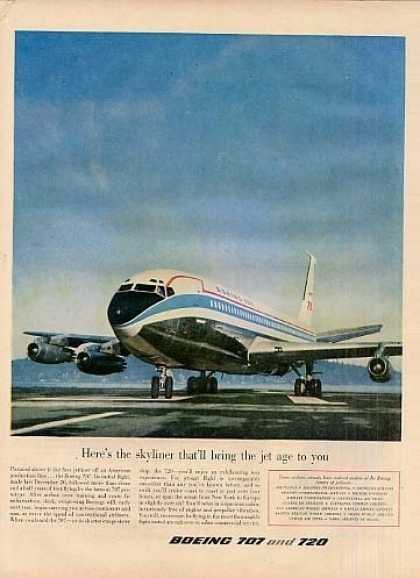 "Boeing 707 Jetliner Ad ""Here's the Skyliner... (1958)"