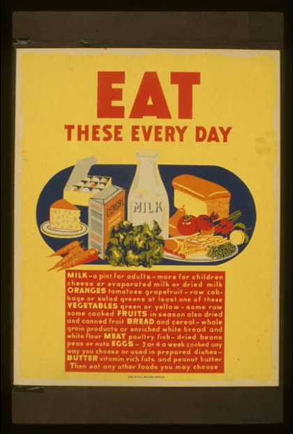 Eat these every day. (1941)