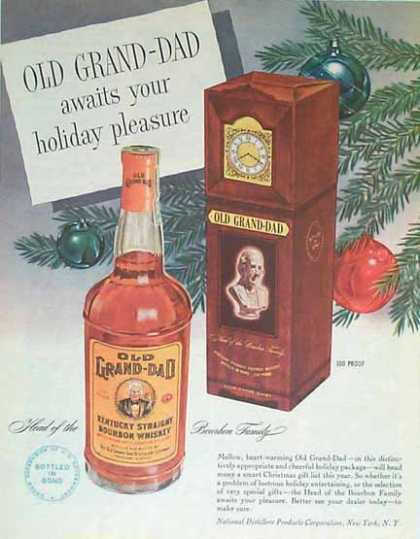 Old Grand Dad Holiday – Clock Box (1949)