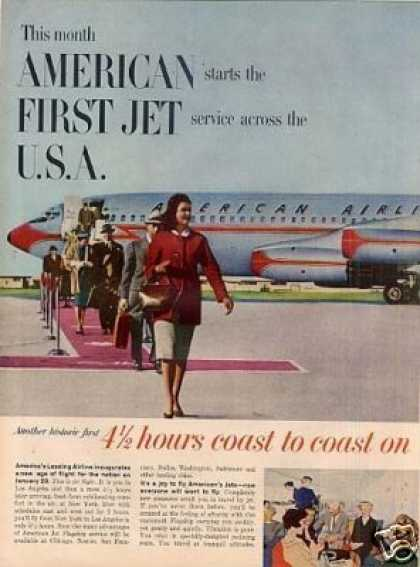 American Airlines Ad 2 Page (1959)