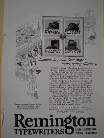 Remington Typewriters A machine for every purpose (1926)