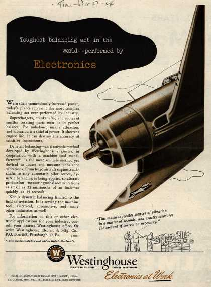 Westinghouse Electric & Manufacturing Company's Electronics – Toughest Balancing Act In The World – Performed By Electronics (1944)