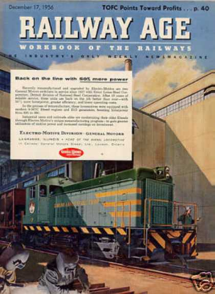 Gm/emd Locomotive Ad Great Lakes Steel Switcher #7 (1956)