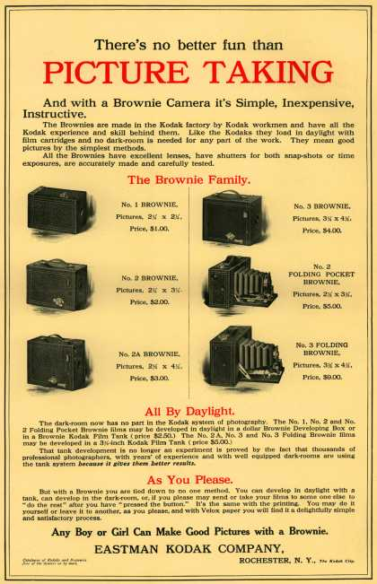Kodak's Brownie cameras – There's no better fun than Picture Taking (1909)