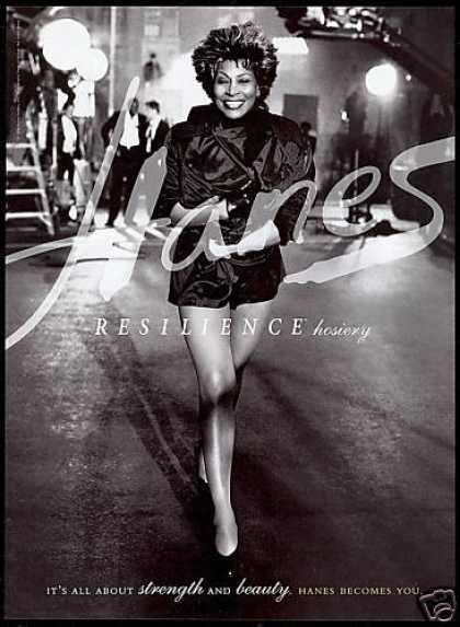 Tina Turner Photo Hanes Legs Hosiery (1996)