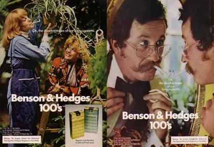 Benson & Hedges Cigarettes Ads – Disadvantages Set of 2 (1975)