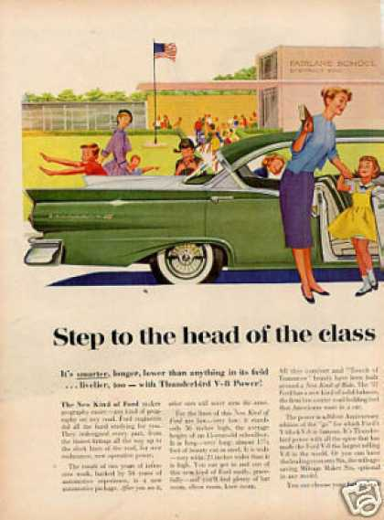 Ford Car Ad 2 Page (1957)