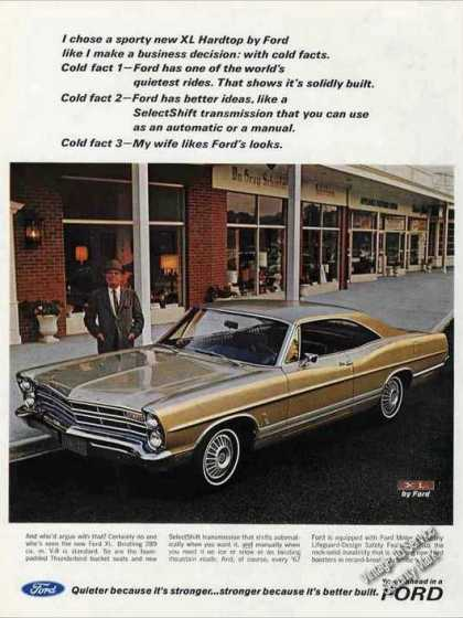 Ford Xl Hardtop Photo Collectible Car (1967)