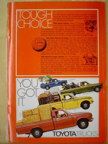 Toyota Trucks Tough Choice You got it (1977)
