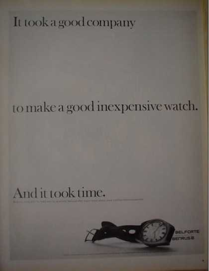 Belforte Benrus Watches It took a good company (1968)