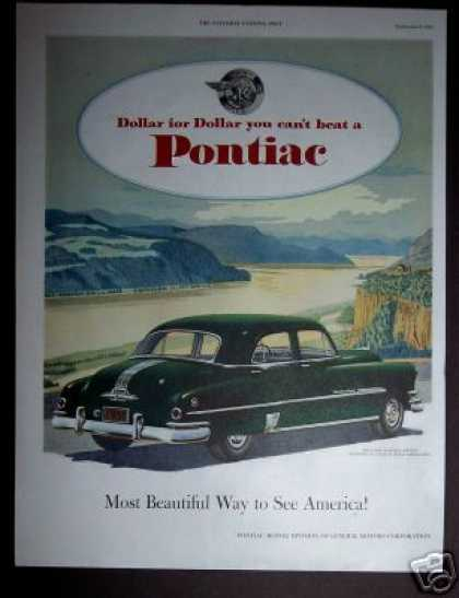 Green Pontiac Eight Automobile Car (1951)