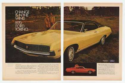 '69 1970 Yellow Ford Torino Brougham & Red GT (1969)