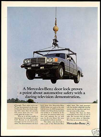 Mercedes Benz 450SE 450 SE Car Safety Features (1974)