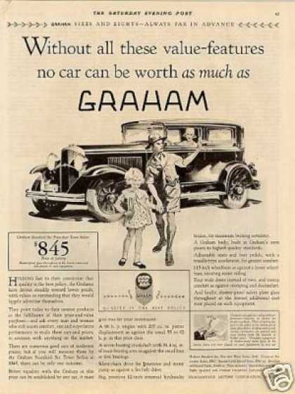 "Graham Town Sedan Ad ""Without All These... (1930)"
