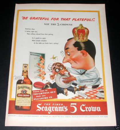 Seagram's 5 Crown Whiskey, at War (1944)