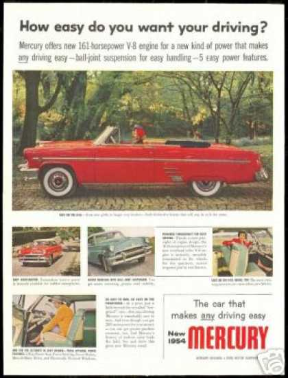 Mercury Red Convertible 5 Photo Car (1954)