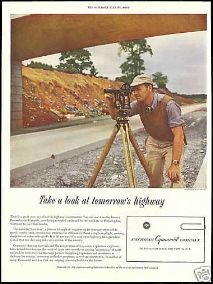 Surveyor Transit Photo American Cyanamid Co (1950)