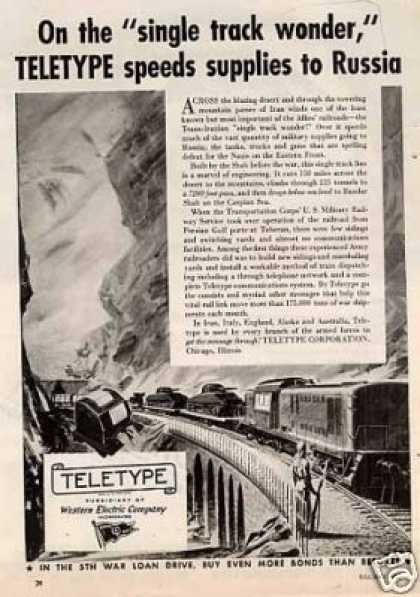"Teletype Ad ""On the Single Track... (1944)"