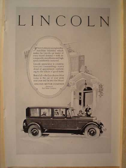 Lincoln Motor Company Car Art deco look (1926)