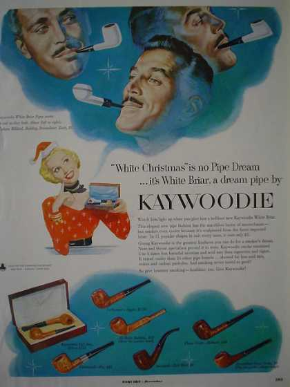 Kaywoodie Tobacco Pipe Pipes Christmas Theme (1953)