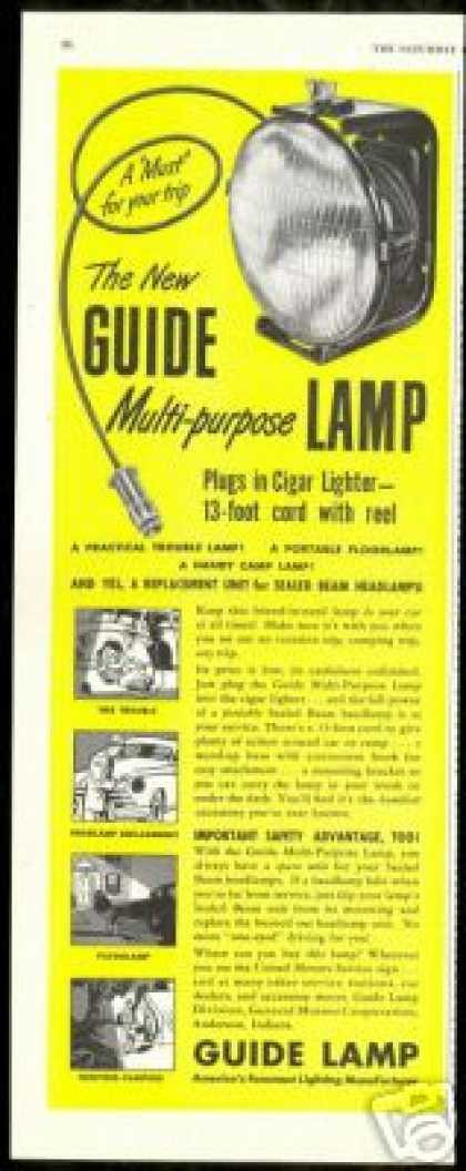 Portable Multipurpose Guide Car Lamp Light (1948)