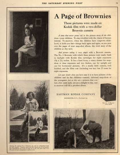 Kodak's Brownie cameras – A Page of Brownies (1921)