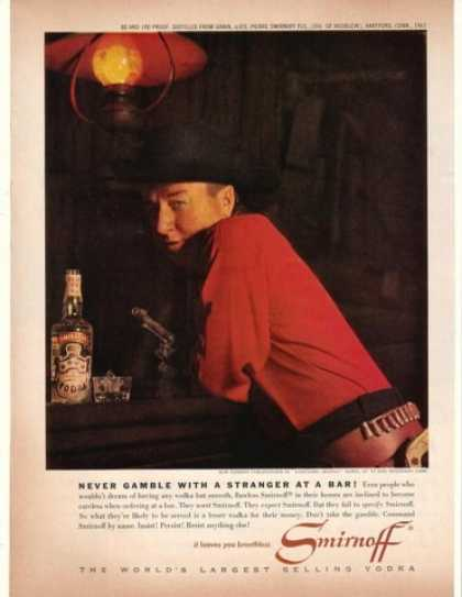 Cowboy Lonesome George Gobel Smirnoff Vodka (1962)