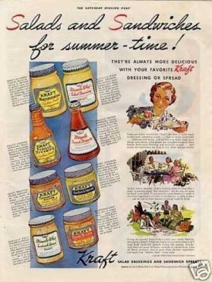 Kraft Salad Dressings & Spreads Color (1938)