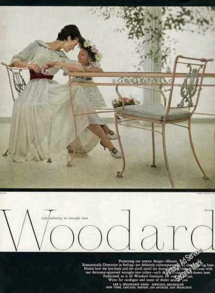 Woodard Wrought Iron Minuet Table/chairs (1957)