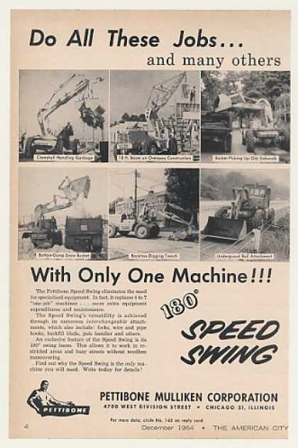 Pettibone Mulliken 180 Speed Swing Photo (1964)